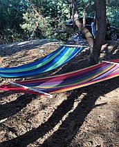 """Гамак  """"Relax"""" тканевый Подвесной 200 х 85 см с перекладиной для отдыха садовый, фото 3"""