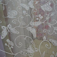 "Тюль органза ""Бабочки весны"""
