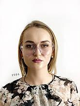 Имиджевые очки сердечки без оправы