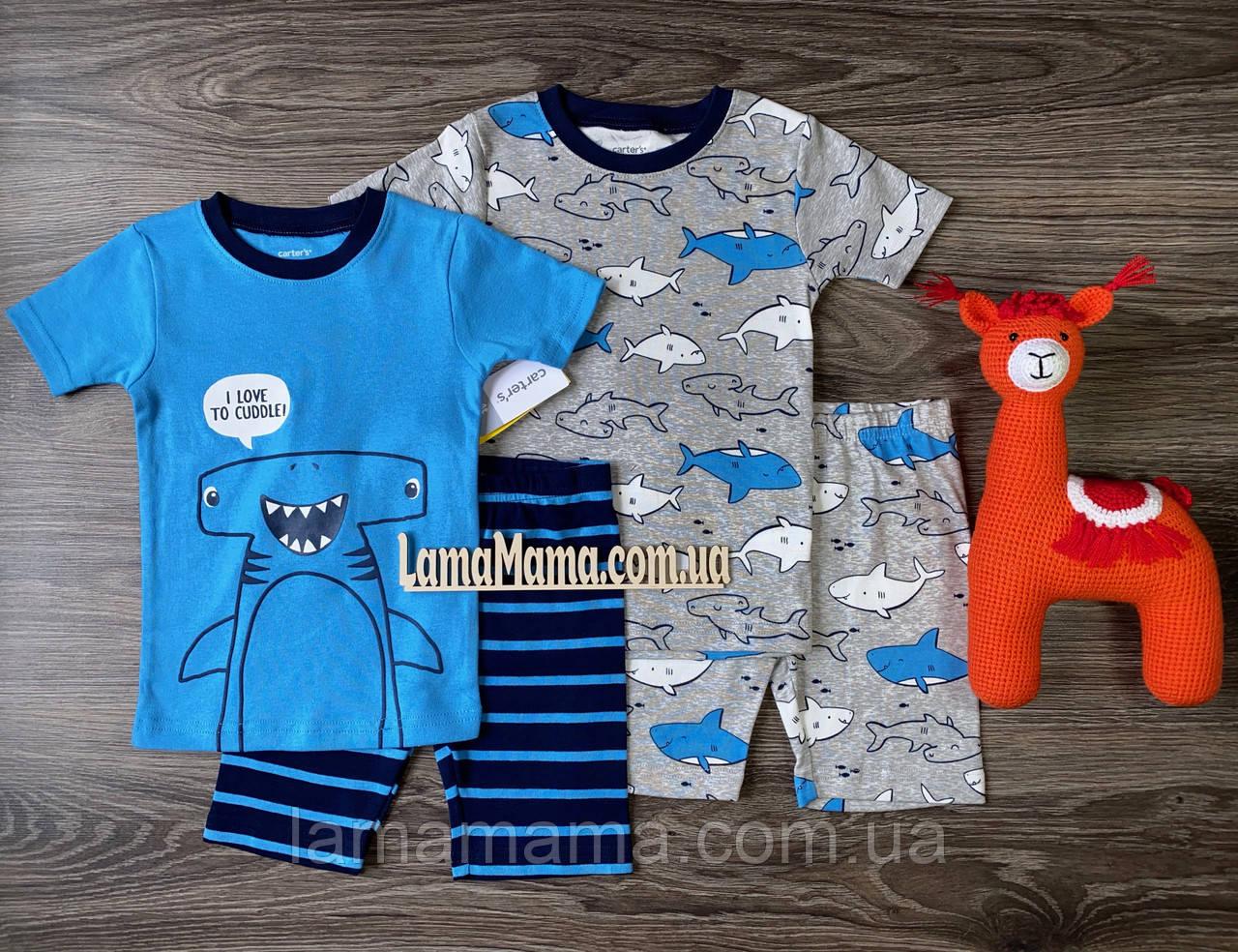 Набор хлопковых пижам Акула-молот Картерс Carter's 4-Piece 100% Snug Fit Cotton PJs