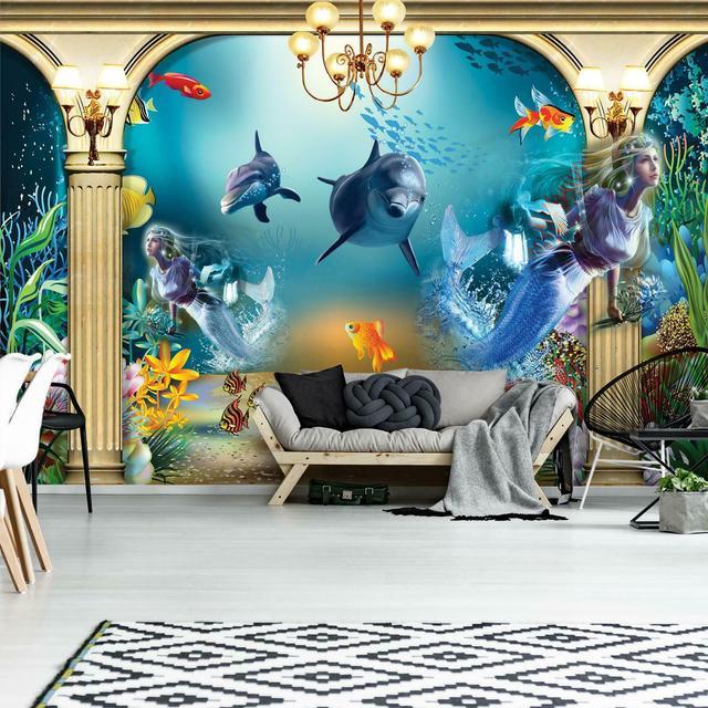 3D Фото Обои с Дельфинами