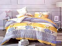 Полуторный постельный комплект  Слон и Жираф, бязь (хлопок)