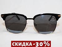 Очки в стиле Ray Ban Clubmaster P8907 золото черный поляризационные
