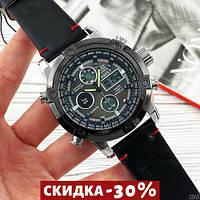 Мужские наручные часы AMST 3022 Silver-Black Smooth Wristband