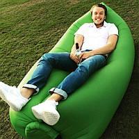 Надувной матрас Ламзак, шезлонг, гамак, надувной диван, надувное кресло ЗЕЛЕНЫЙ
