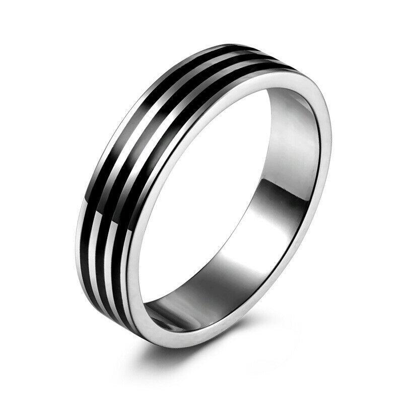Кільце з нержавіючої сталі, сріблясте анодування, 1077КЖ
