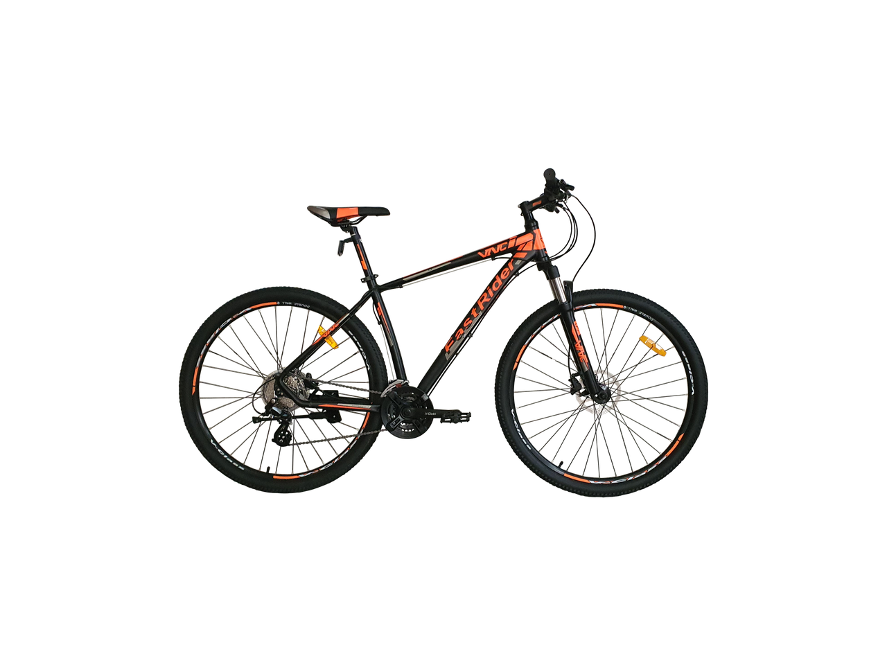 "Велосипед VNC 29"" FastRider A5, 29A5-49-BO, черный / оранжевый / серый M/19"""