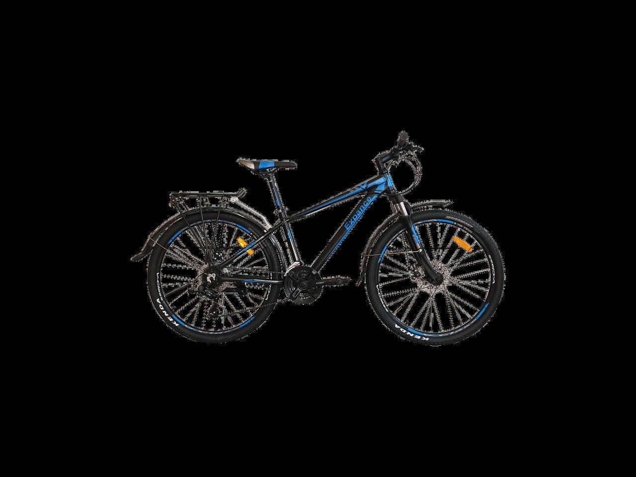 """Велосипед VNC Expance A3 26"""", 26EXA3-38-BL, черный / синий / серый M/15"""""""