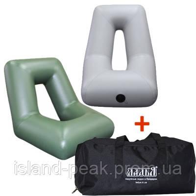 Надувное кресло для лодки ПВХ ЛКН-190-220в комплекте с сумкой-чехлом