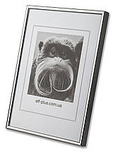 Рамка для фото 13х18 из алюминия - Серебро глянец 6 мм - со стеклом