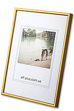 Рамка для фото 13х18 из алюминия - Золото матовое 6 мм - со стеклом