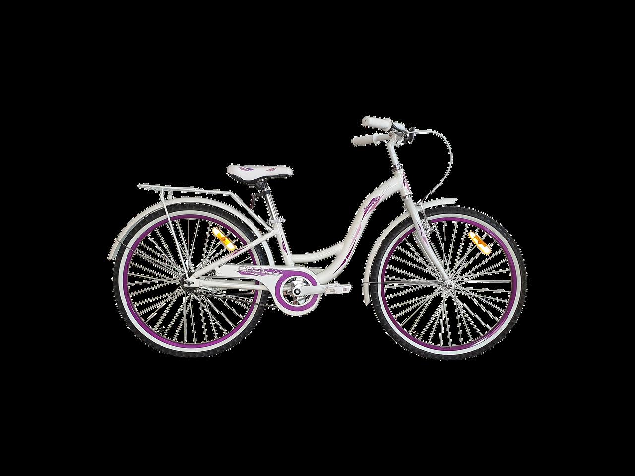 "Велосипед VNC Beverly AC 24"", 2419-FA-WP белый / фиолетовый 11"""