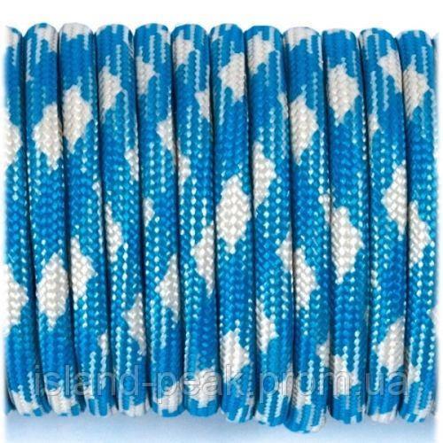 Верёвка Paracord Type III 550, blue white #074