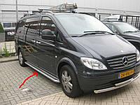 """Бічні пороги майданчик """"Premium"""" Mercedes Vito 639 нержавійка"""