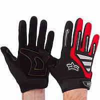 Мото Перчатки Fox чёрно-красные