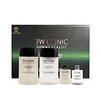 Набор для ухода за мужской кожей 3W Clinic Homme Classic Essential Skin Care Set, 4 шт