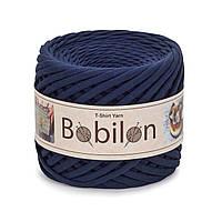 Трикотажная пряжа Бобилон Micro (3-5мм). Blue Sapphire Синий Сапфир
