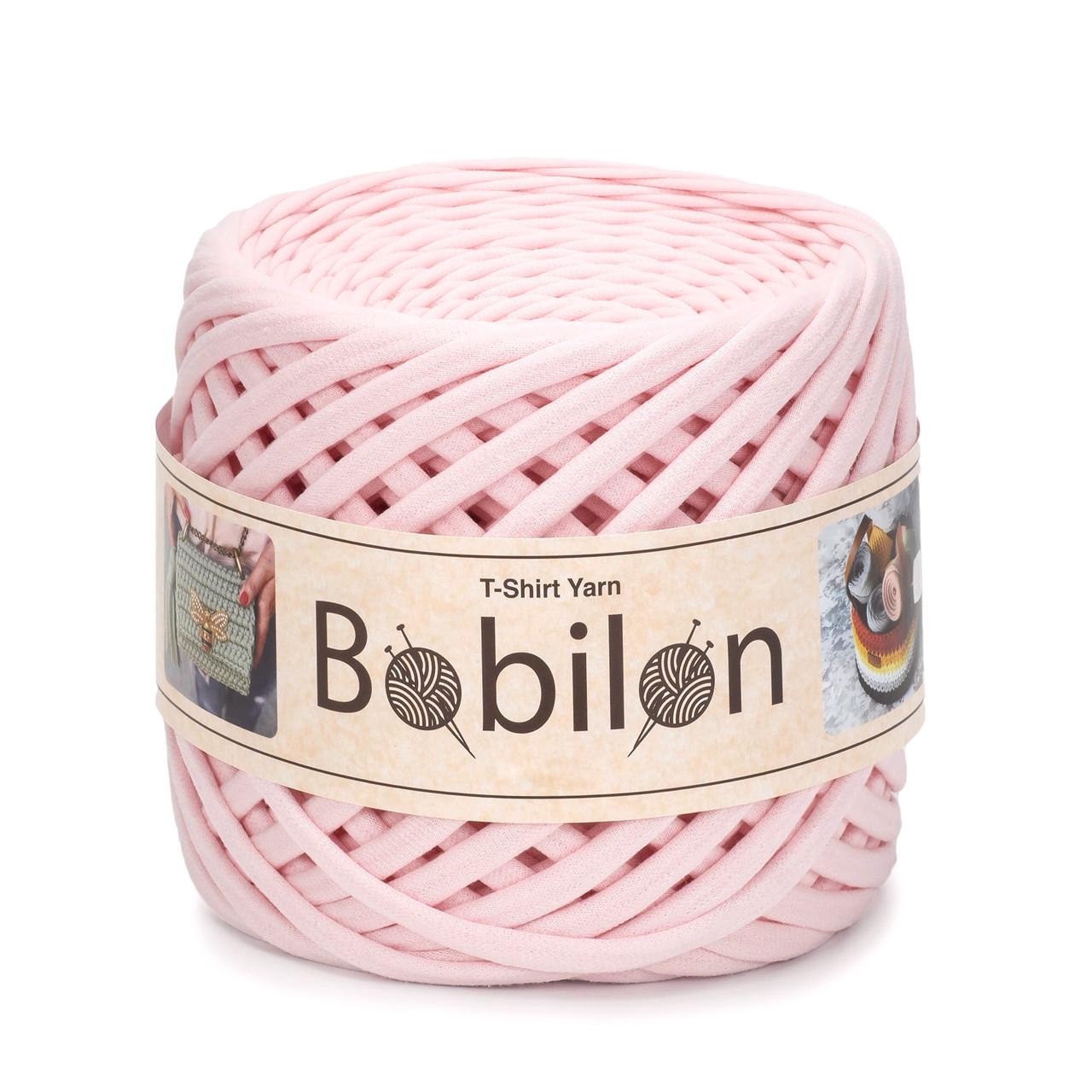 Пряжа трикотажна Бобилон Micro (3-5мм). Ніжно-Рожевий