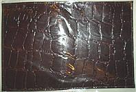 Кожаные обложки для водительских документов цвет черный крокодил