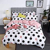 Комплект постельного белья для девочки принт Горошки