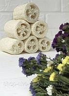 Люфа объемная, натуральная мочалка для тела / для мытья посуды, губка натуральная природная