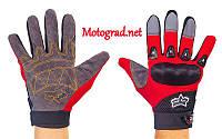 Мото Перчатки Fox черно-красные