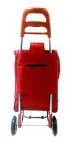 Тачка сумка с колесиками кравчучка металл 94см MH-2079 красная