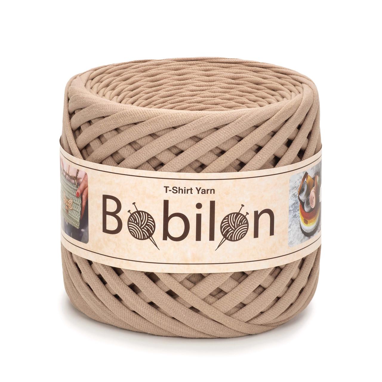 Трикотажная пряжа Bobilon Medium (7-9 мм). Caramel Карамель