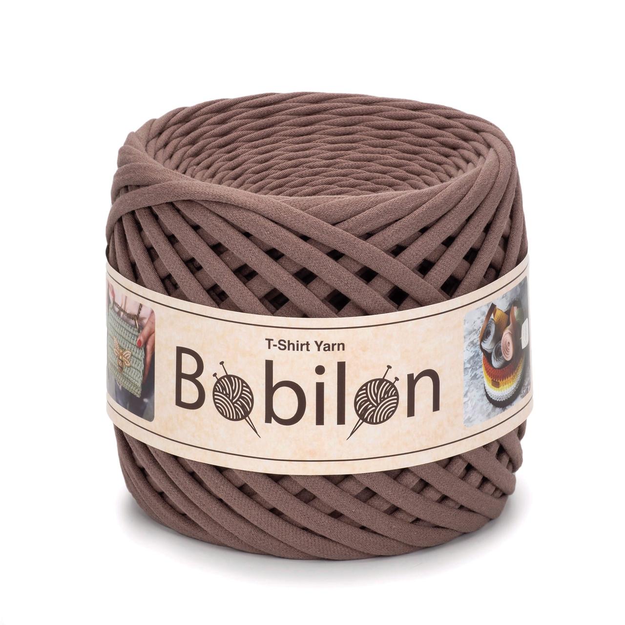 Трикотажная пряжа Bobilon Mini (5-7 мм). Cocoa Какао