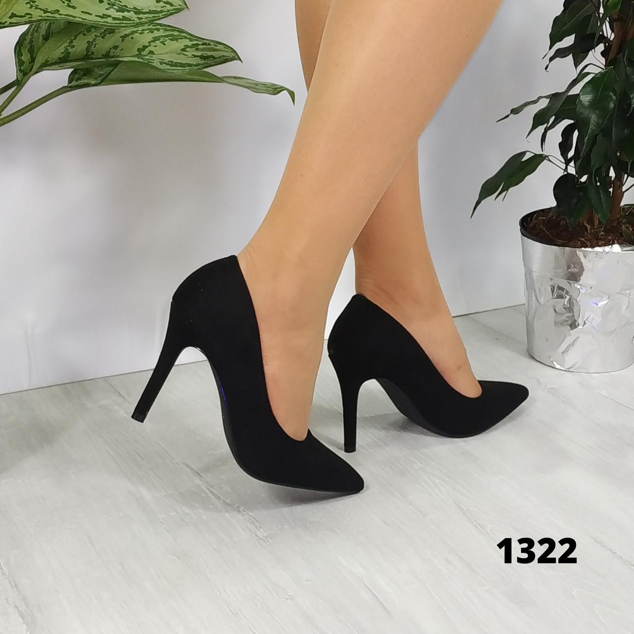 Женские замшевые туфли лодочки, реальное фото, ОВ 1322