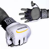 Перчатки для смешанных единоборств 4 oz LEGACY white