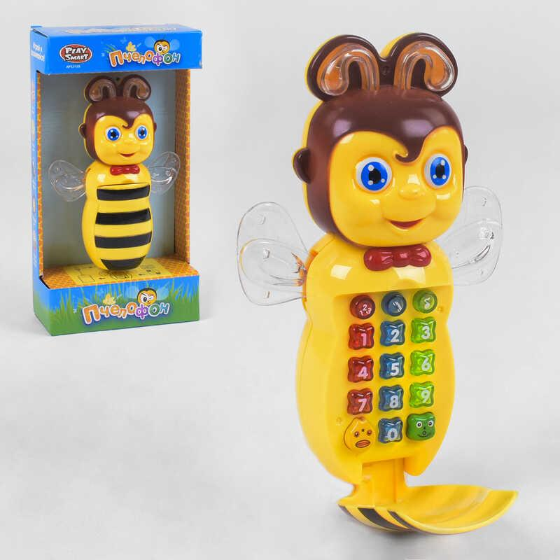 "Телефон ""Пчелофон"" 7135 (72/2) ""Play Smart"", подсветка, мелодии, в коробке"