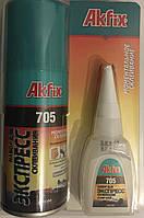 Akfix 705 - Клей с активатором для МДФ и дерева Akfix 100мл+25мл