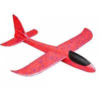 Самолет планер метательный Explosion Большой размах крыльев 49 см Красный (258610)