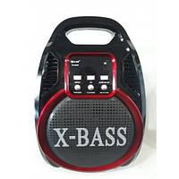 Колонка комбик Golon RX-820 BT Bluetooth mp3 радиомикрофон пульт цветомузыка Черный с красным (258674)