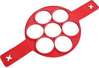 Форма для приготовления оладий и омлета Supretto силиконовая 40х23.5х1.5 см Красная (258543)