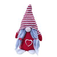 Декоративная текстильная фигурка-игрушка Гном Красный (hub_iWaQ25011)