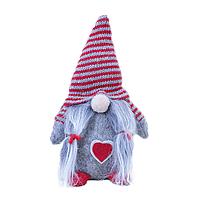 Декоративная текстильная фигурка-игрушка Гном Серый (hub_EQFe91584)