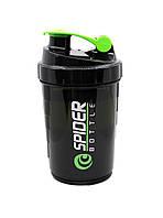 Спортивная бутылка-шейкер Profi для воды спортивного питания 500 мл Черная (500016)