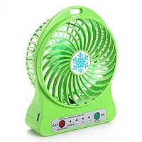 Портативный Настольный Мини Вентилятор Portable Mini Fan XSFS-01 USB САЛАТОВЫЙ