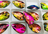 De'Lux Drop Colorful (Rainbow) 28*17mm Premium стекло капля колорфул радужный