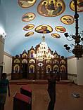 Иконостас резной из дерева, цвет под лак (установлен в Одесской области), фото 10