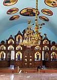Иконостас резной из дерева, цвет под лак (установлен в Одесской области), фото 2