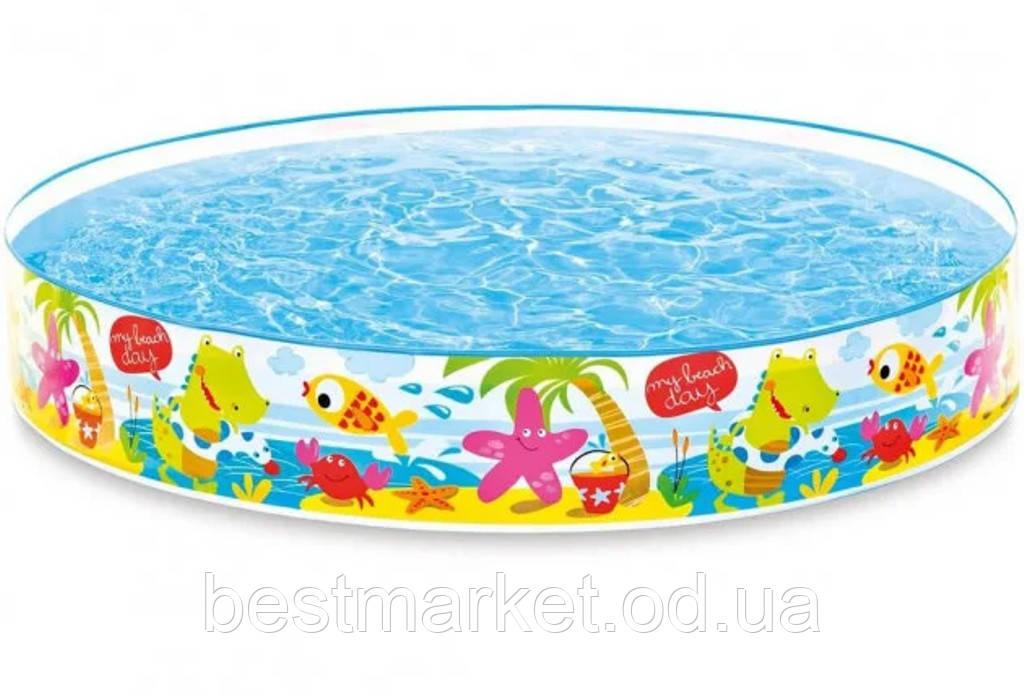 Детский Каркасный Бассейн Водный Мир Intex 152 х 25 см