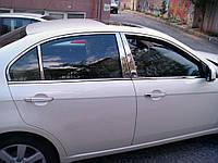 Chevrolet Epica Накладки на стойки (нерж.)