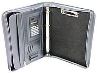 Деловая папка из эко кожи с калькулятором AMO SSBW02 серый