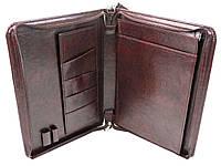 Мужская деловая папка из кожзама Exclusive 710800 коричневая
