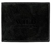 Кожаное мужское портмоне ALWAYS WILD RMH03CFL черное