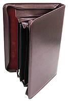 Женская деловая папка из эко кожи AMO SSBW03 бордовый