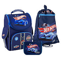 Набор рюкзак + пенал + сумка для обуви Kite 501 Hot Wheels-2